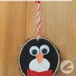 Wooden Penguin Ornament