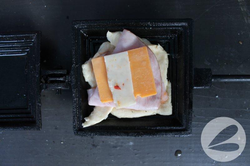 Pie Iron Ham and Cheese Cresents