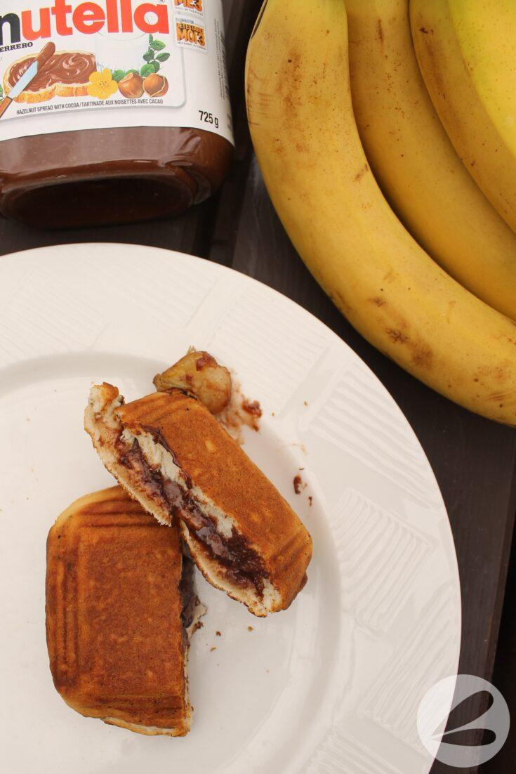 Pie Iron Nutella & Banana Biscuits