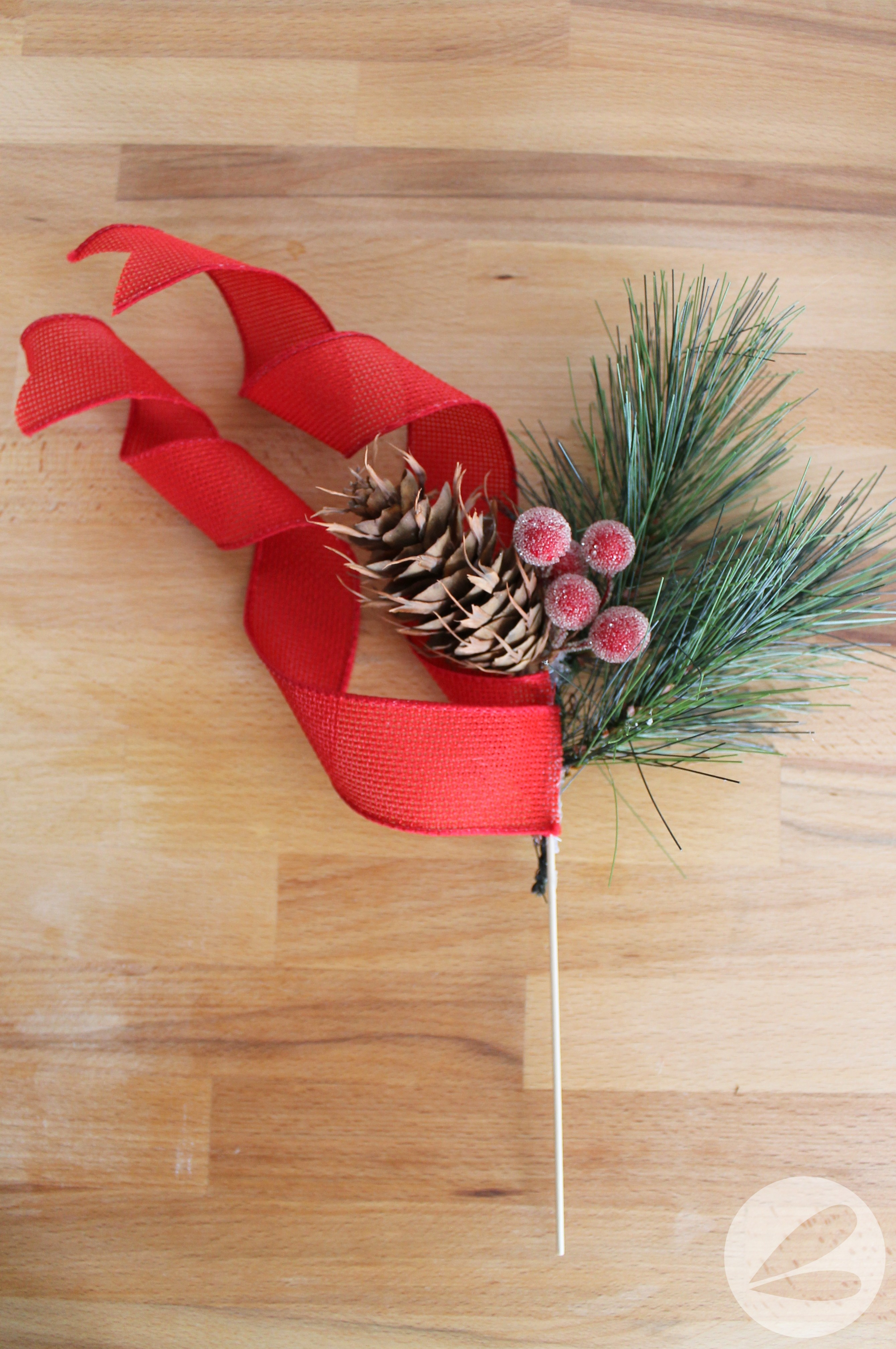 Holiday Ribbon Pick Tutorial 187 Homemade Heather