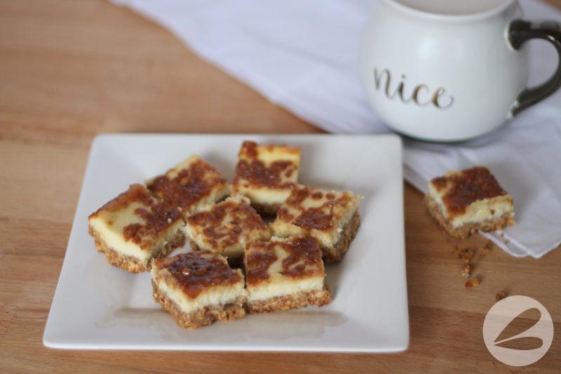 Cheesecake Toffee Bars