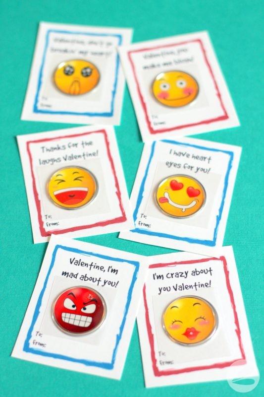 Emoji Sticker Valentines with Free Printable