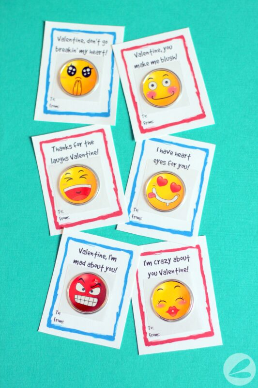 Emoji Sticker Valentines with Free Printable