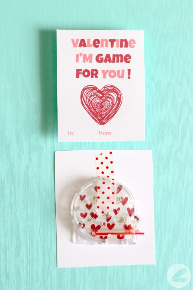 Pinball Game Valentine with Free Printable