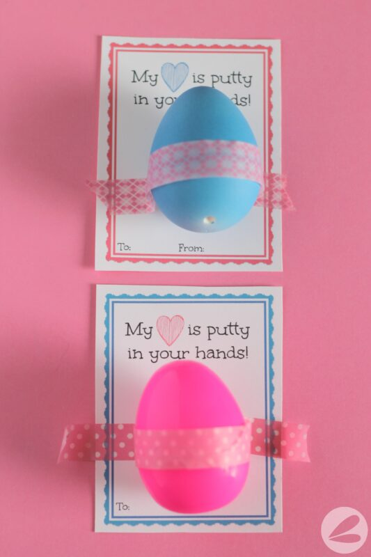 Silly Putty Valentine with Free Printable