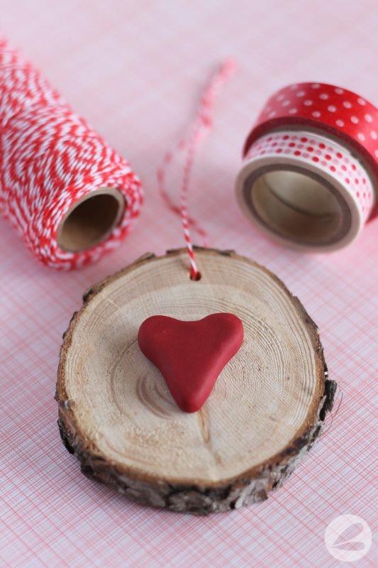 Wood Slice Valentines