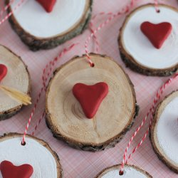 Wood Slice Valentines