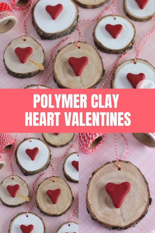 polymer clay heart valentines