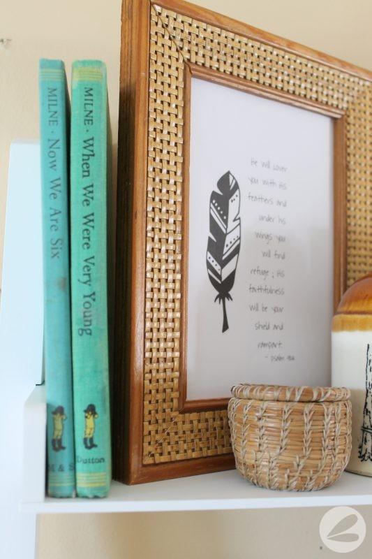Found and Thrifted Shelf Decor