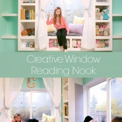 Creative Window Reading Nook