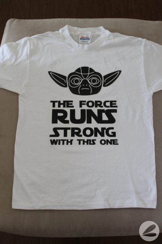 DIY Yoda Star Wars Running T-shirts