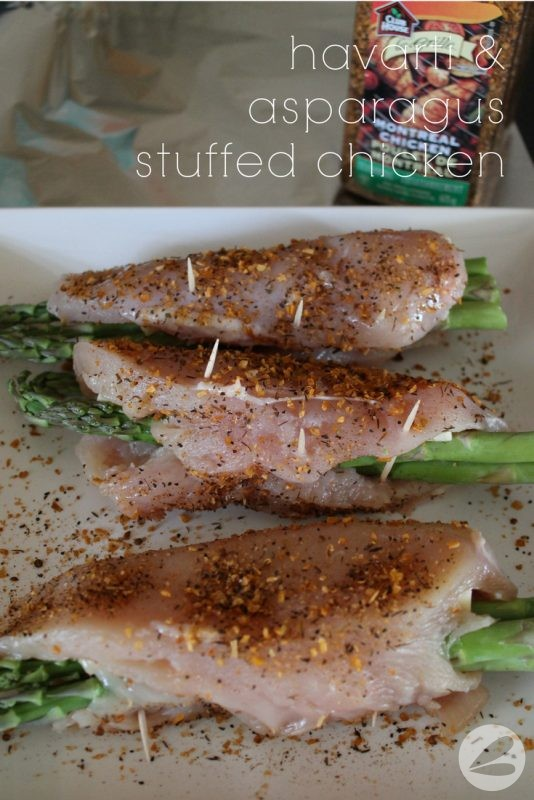 Havarti and Asparagus Stuffed Chicken