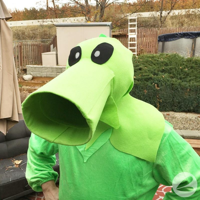 Plants Vs Zombies Pea Shooter Costume
