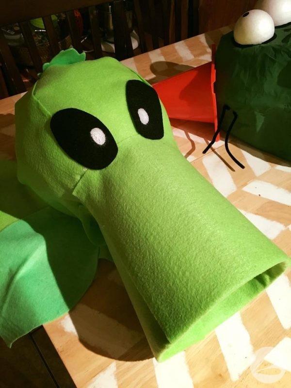 Plants Vs Zombies Pea Shooter Costume