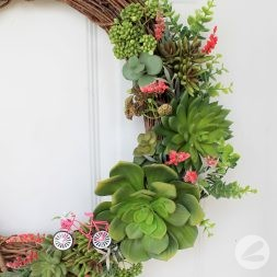A Succulent Wreath for Spring