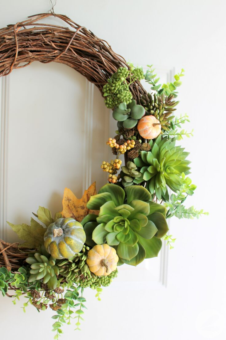 A Succulent Wreath for Fall