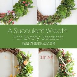 A Succulent Wreath For Every Season
