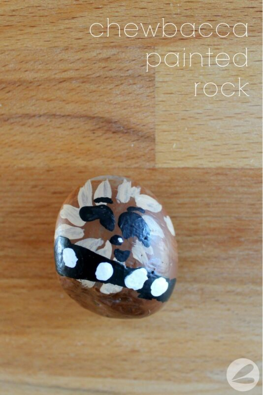 Chewbacca Painted Rock