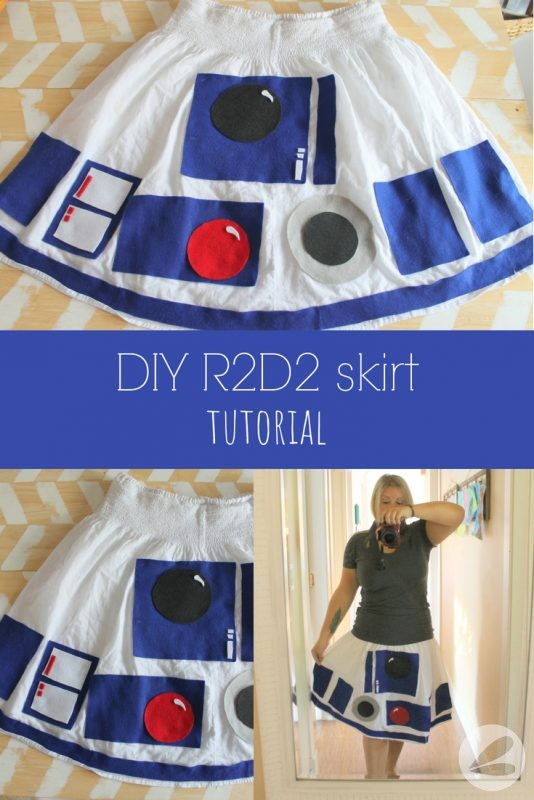 DIY R2D2 Skirt Tutorial