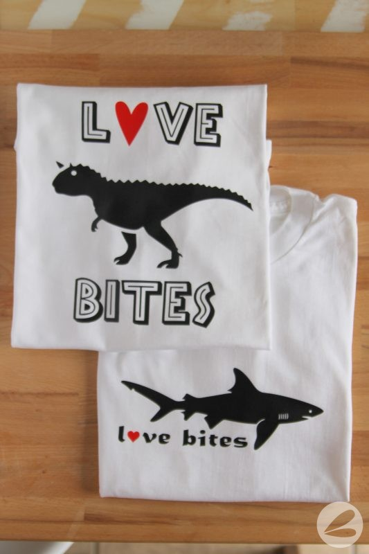 Love Bites Valentine T-shirts with SVG Cut File