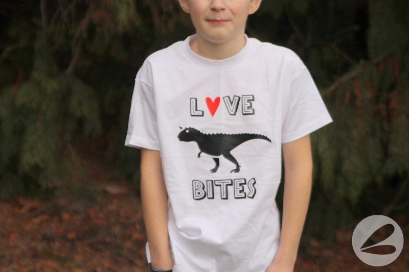 Love Bites Valentine T-shirts with SVG Cut File