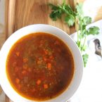 Low Carb Hamburger Soup