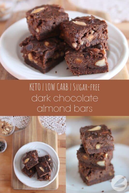 keto dark chocolate almond bars