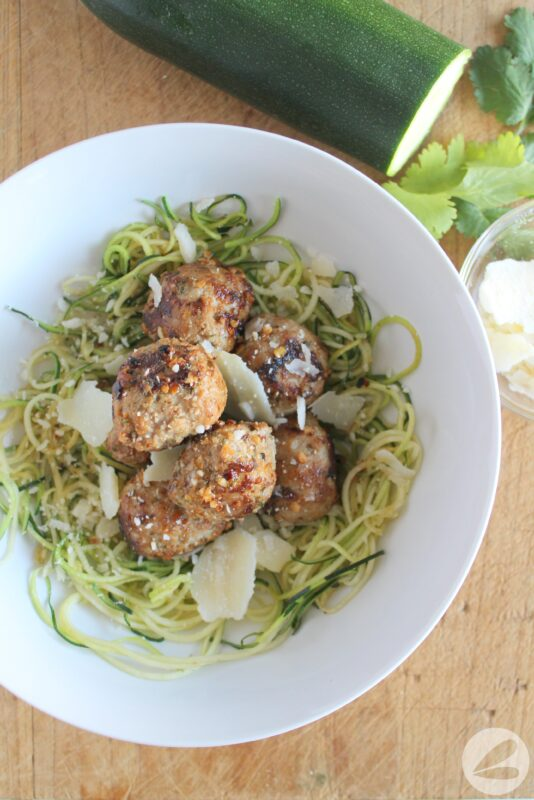 Garlic Parmesan Turkey Meatballs