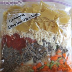 Crockpot Lasagna Freezer Meal Recipe