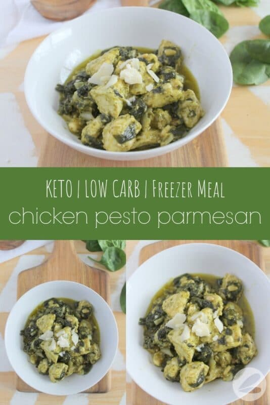 chicken pesto parmesan freezer meal