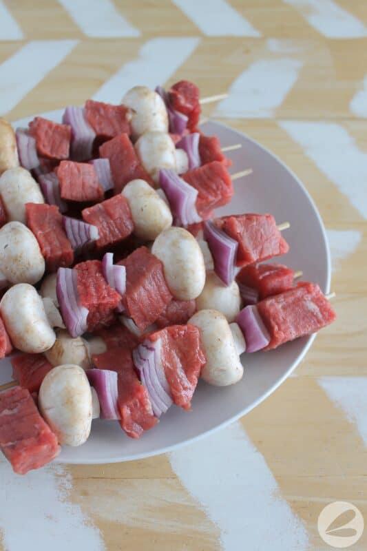 marinated steak skewer camping recipe
