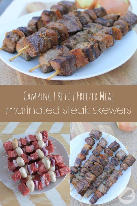 Marinated Steak Skewers Camping Recipe