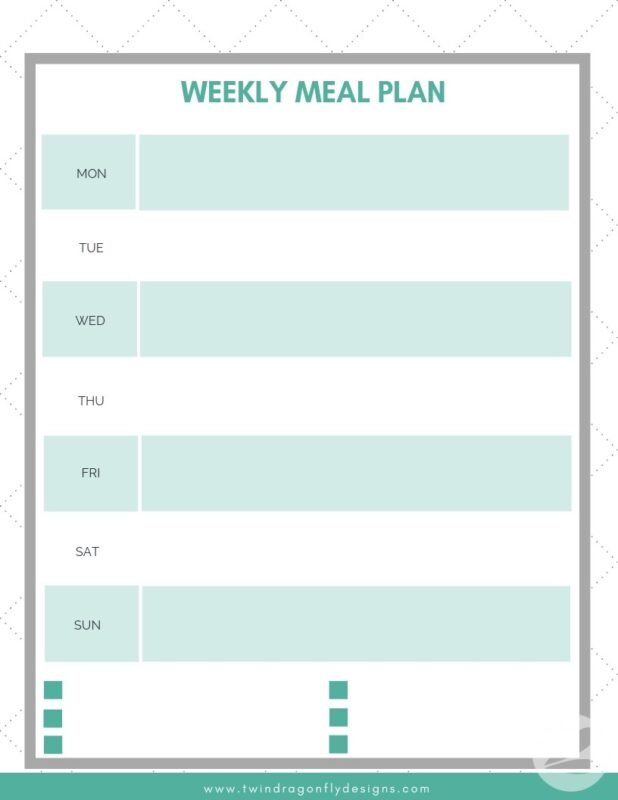 image about Free Printable Weekly Meal Planner named Weekly Evening meal Planner No cost Printable Listing