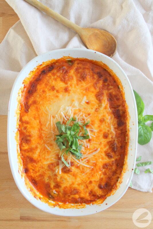 three cheese keto cauliflower bake