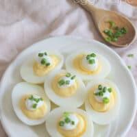 Sour Cream & Chive Deviled Egg Recipe