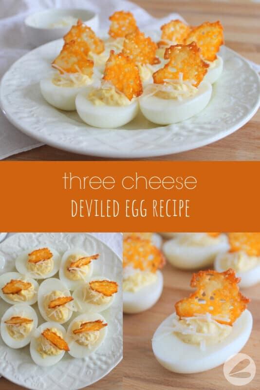Three Cheese Deviled Eggs