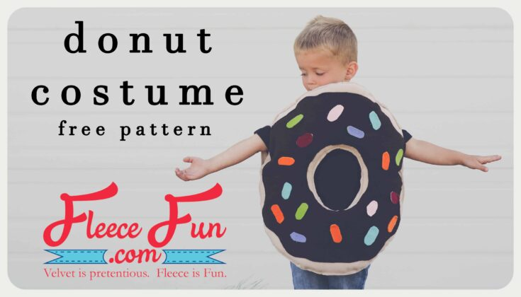 Easy Donut Costume DIY (Free Pattern)