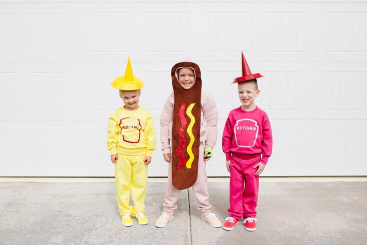 Funny Family Halloween Costumes: How to Make DIY Hot Dog, Ketchup & Mustard Costumes