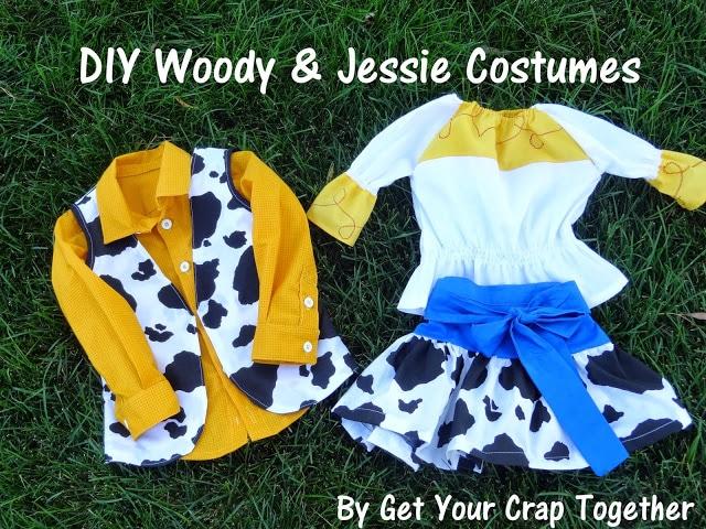 DIY Woody & Jessie Costumes--31 Day of Halloween