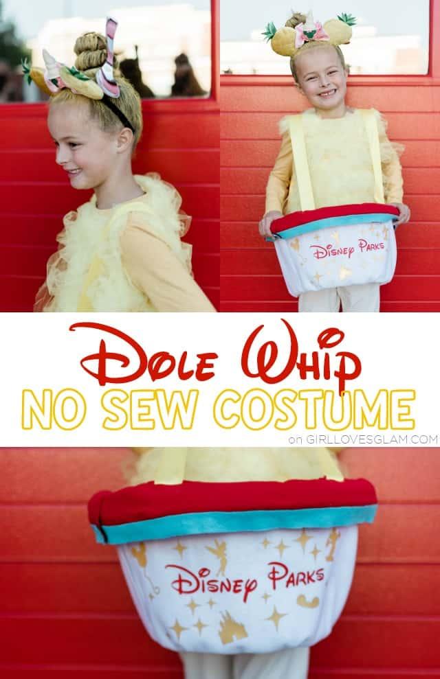 No Sew Dole Whip Costume: Disney Treats Costume