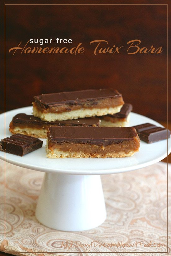 Homemade Sugar-Free Twix Bars
