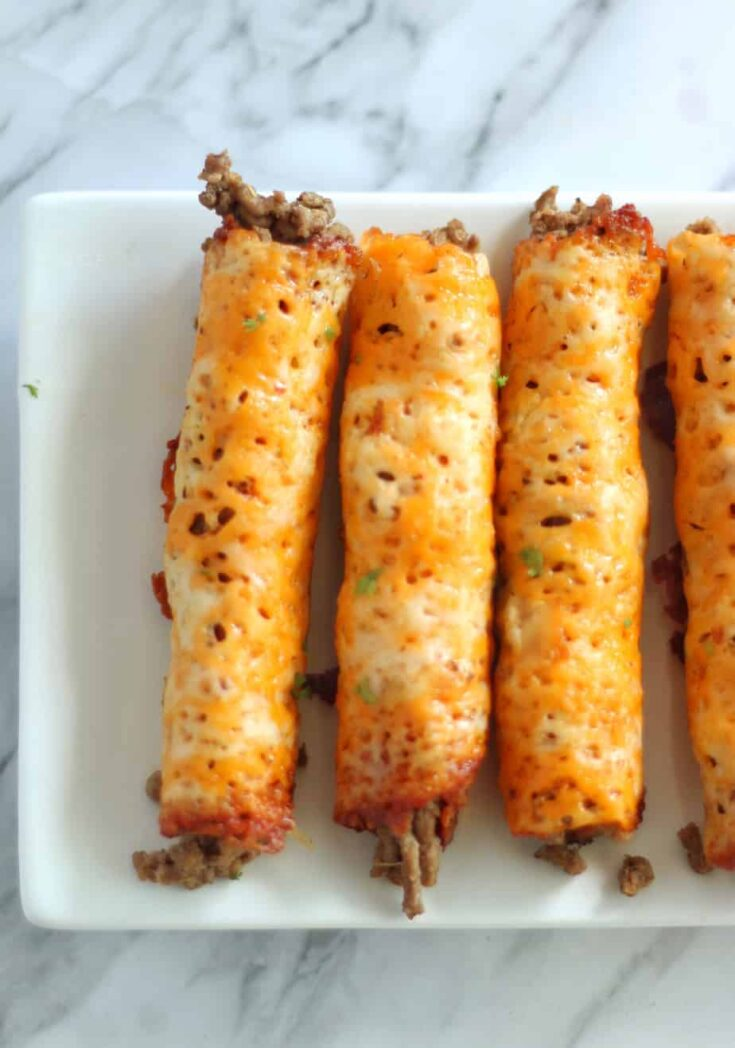Keto Beef Taquitos | Low Carb Ground Beef Taquito Recipe