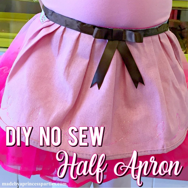 How to Make a DIY Half Apron No Sew