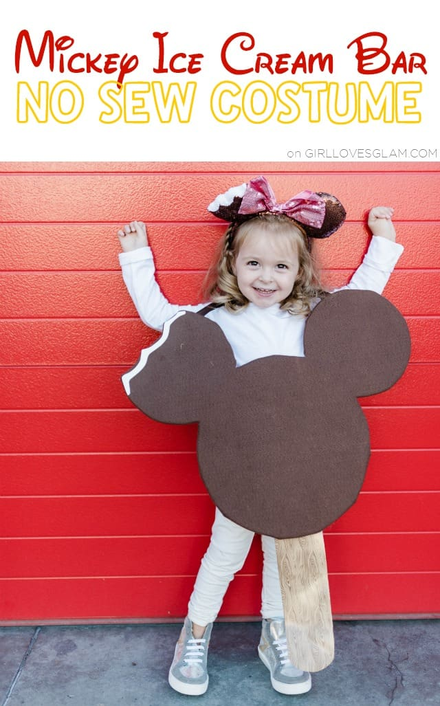 No Sew Mickey Ice Cream Bar Costume: Disneyland Treats Costume