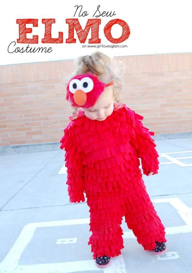 DIY No Sew Elmo Halloween Costume