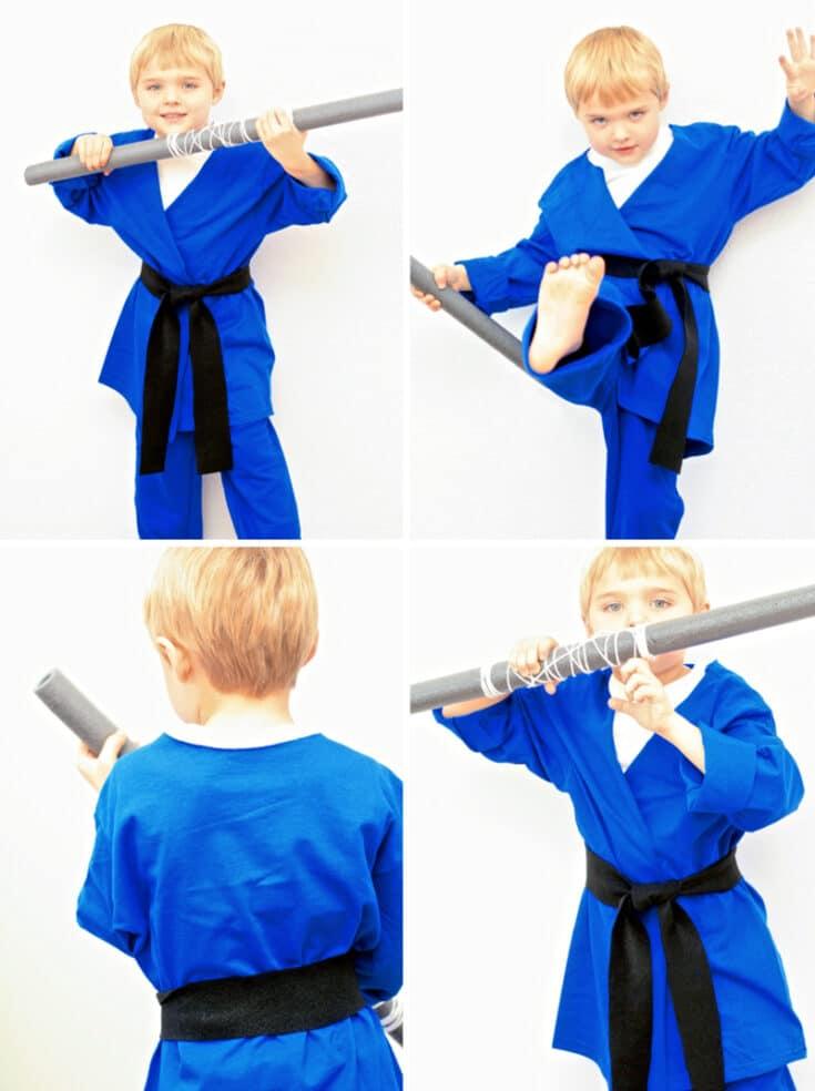 No-Sew Kids Ninja Costume