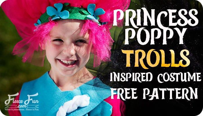 Princess Poppy Trolls Costume DIY (Free Pattern)