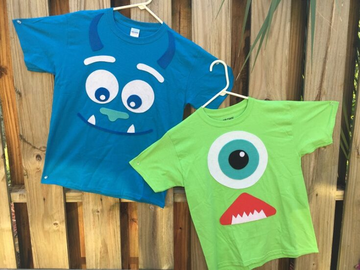 Monsters Inc Halloween Costumes Created from T-shirts