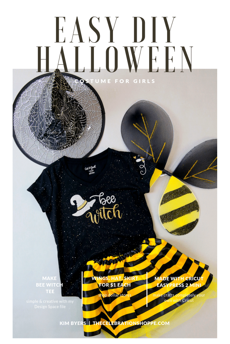 Bee Witch Halloween Costume With New Cricut EasyPress 2 Mini + Video • The Celebration Shoppe