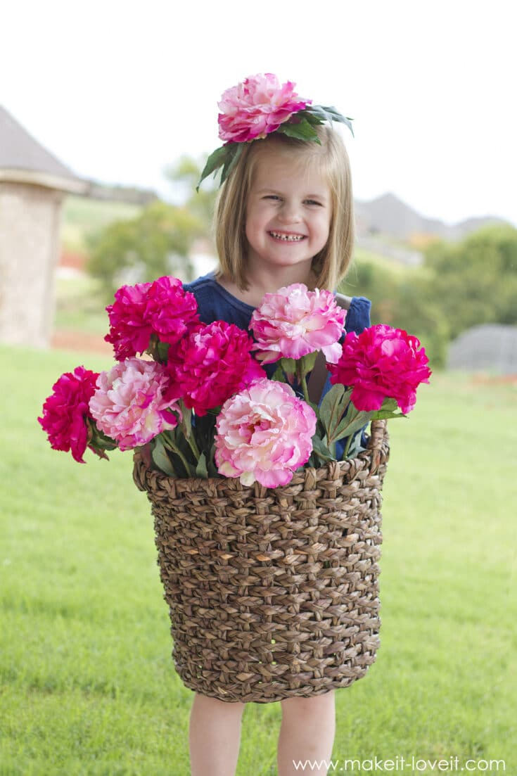 DIY Flower Basket Costume